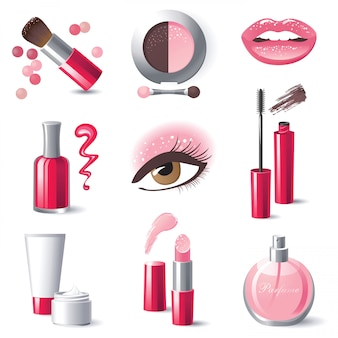 Icônes de maquillage