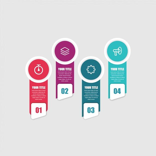 Icônes de marketing élément infographique abstrait