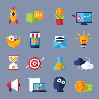 Icônes de marketing numérique