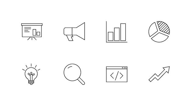Icônes de marketing