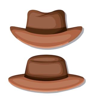 Icônes masculines élégant chapeau