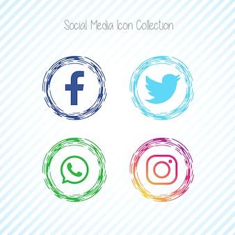 Icônes de médias sociaux créatifs facebook
