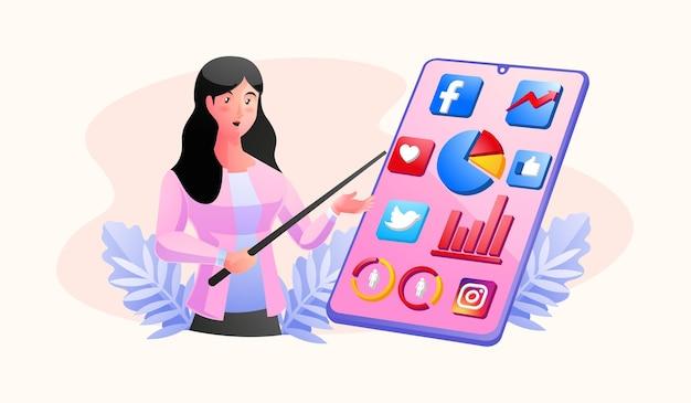 Icônes de médias sociaux mégaphone et youtube