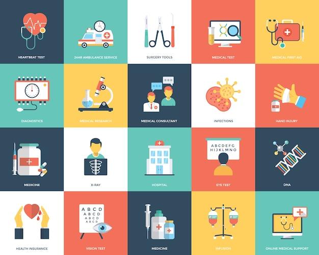 Icônes médicales et de soins de santé