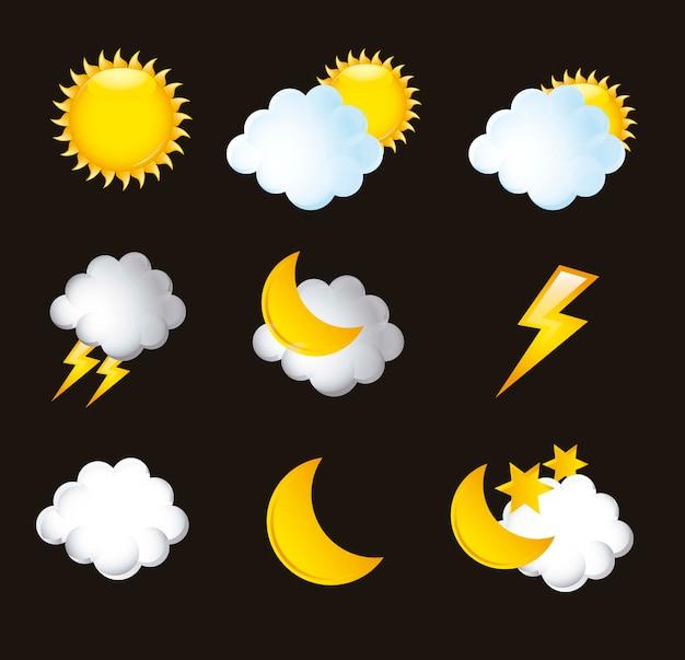 Icônes météo isolés