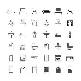 Icônes de meubles de maison