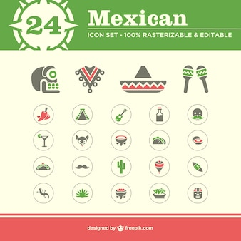 Icônes mexicain pack gratuit