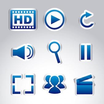 Icônes multimédia