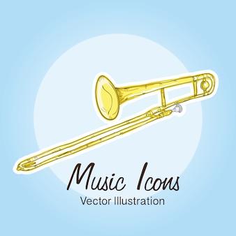 Icônes de la musique (objets et éléments d'instruments)
