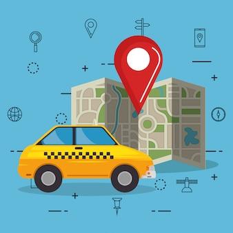Icônes de navigation gps