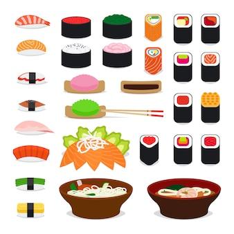 Icônes de nourriture en asie