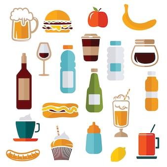 Icônes de nourriture - étiquettes de nourriture