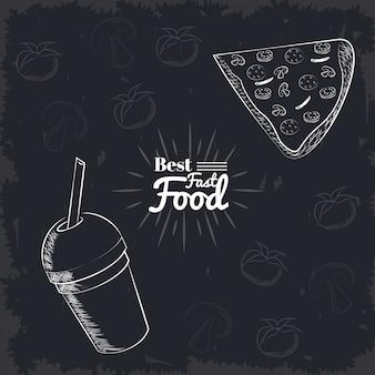 Icônes de nourriture de fait
