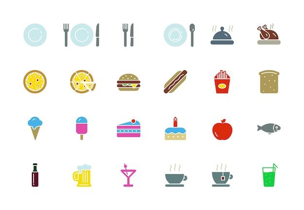 Icônes de nourriture