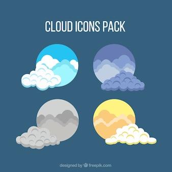 Icônes nuages emballent
