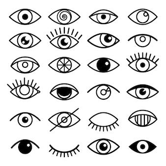 Icônes d'oeil de contour