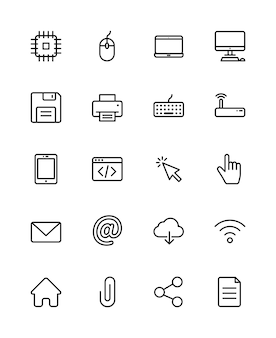 Icônes d'ordinateur
