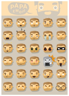 Icônes papa emoji