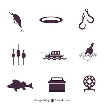 Icônes de pêche emballer