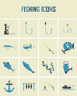 Icônes de pêche