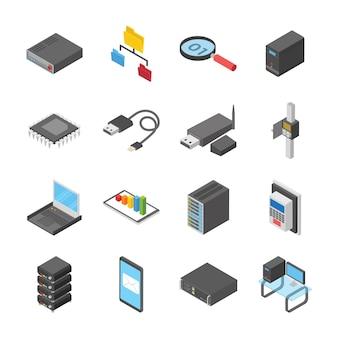 Icônes de périphériques de réseau et de connexion