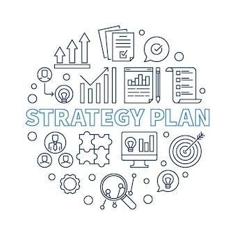 Icônes de plan de stratégie