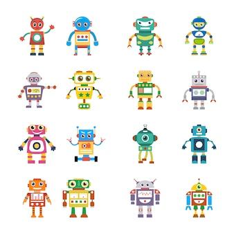 Icônes plates d'évaluation robotique