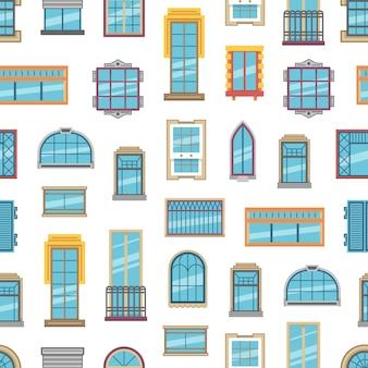 Icônes plates ou motif de fenêtre