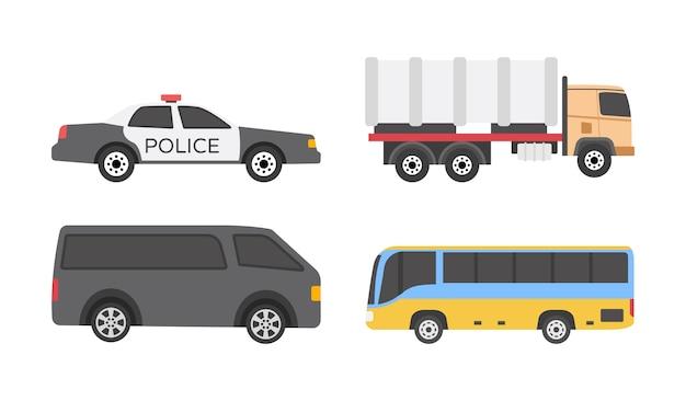 Icônes plates de véhicules