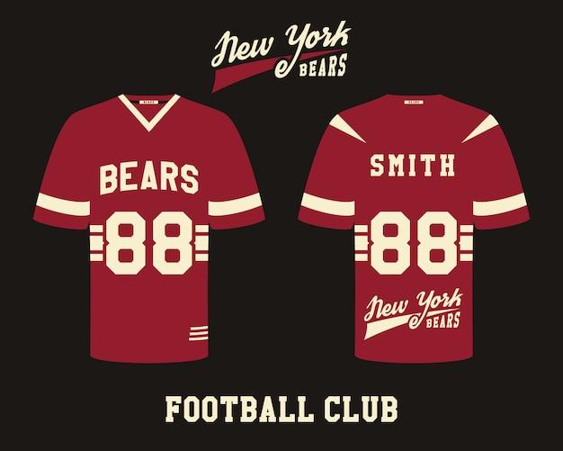 Icônes plats uniformes de football américain