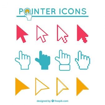Icônes pointeurs définis