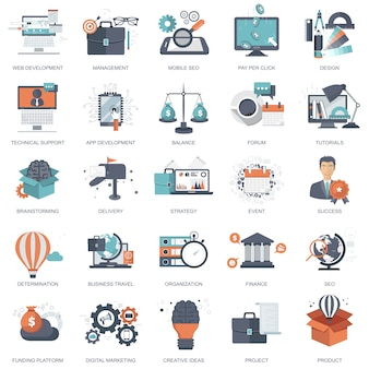 Icônes pour le développement de sites web