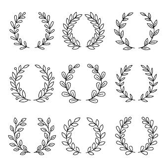 Icônes de prix de couronne de laurier