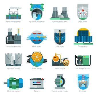 Icônes de production d'énergie
