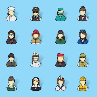 Icônes de professions de personnes