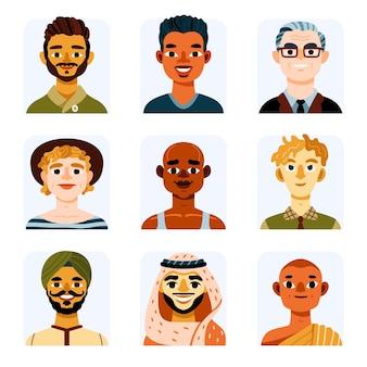 Icônes de profil dessinés à la main