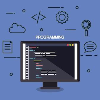 Icônes de programmation des langues