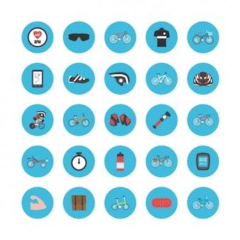 Les icônes à propos de la bicyclette