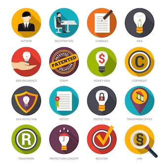 Icônes de protection des idées de brevets