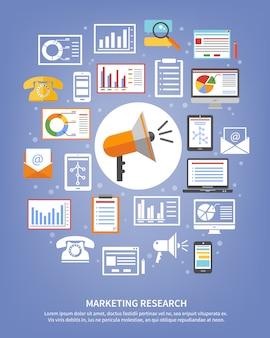 Icônes de recherche marketing