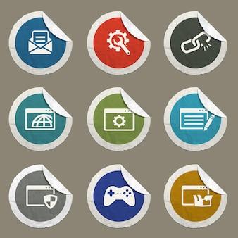 Icônes de référencement et de développement définies pour les sites web et l'interface utilisateur
