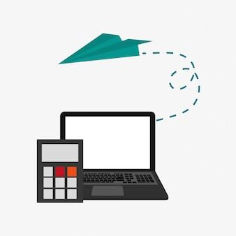 Icônes relatives aux ordinateurs portables et aux télécommunications