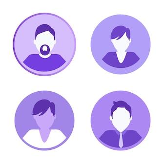 Icônes de réseaux sociaux personnes illustration vectorielle