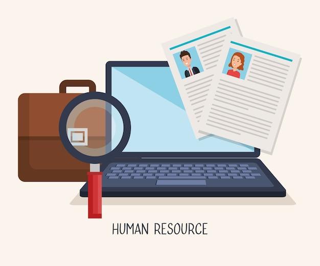 Icônes de ressources humaines définies