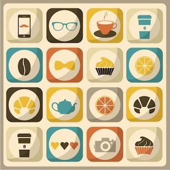 Icônes sur les restaurants