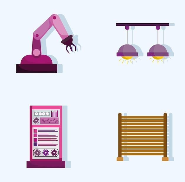 Icônes robotiques industrielles