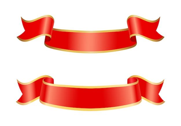 Icônes de ruban de bannières définies illustration vectorielle