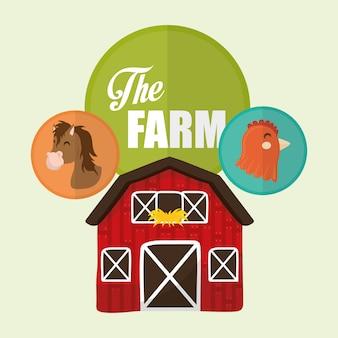 Icônes rurales et agricoles
