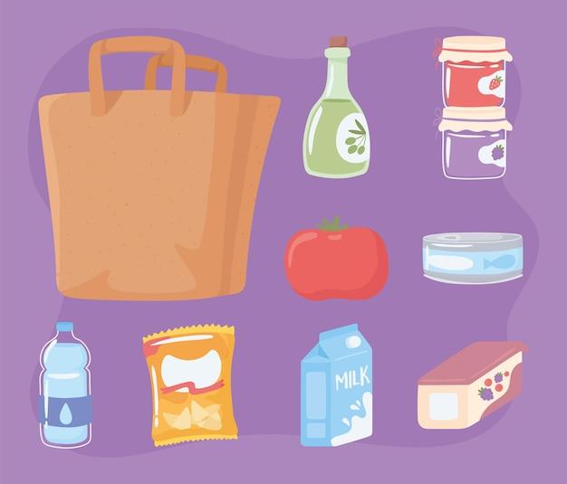 Icônes de sac à provisions