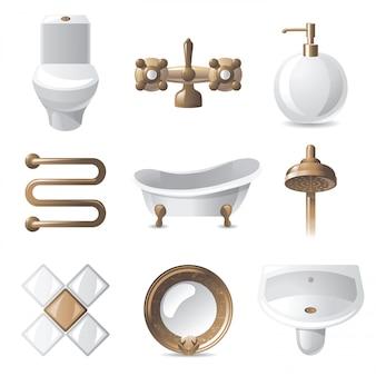Icônes de la salle de bain